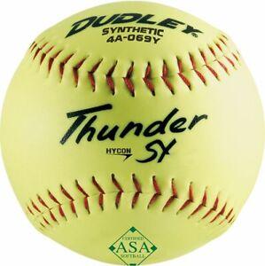 """Dudley 12"""" Synthetic ASA .52/300 Softball - Dozen 4A-069Y-EA"""