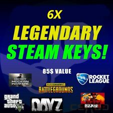 🔥🔥6 LEGENDARY VIP Random Steam Keys Worth + 85$ + 2 keys as reward