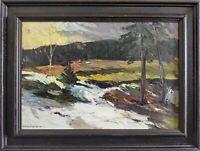 Huile sur panneau Olle Stevenfeldt 1947 Suède 69x52