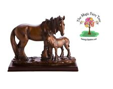 Horse Family Figurine Father Foal figurines horses statue bedroom home decor