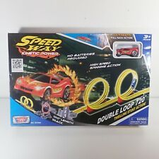 Speed Way Kinetic Power Double Loop 720 Stunt Car And Track