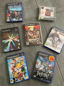 Jeux PS1 - PS2 , Lot de 7 jeux versions PAL / Rare / Collector / Playstation