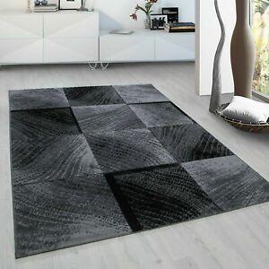 CHECK 8003 MODERN DESIGN RUG BLACK GREY SOFT LARGE FLOOR BEDROOM CARPET RUGS