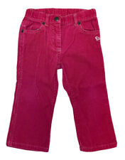 JANIE And JACK Girls Size 18-24 Months Red Corduroy Pants Winter Reindeer