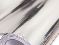 2FTx 5FT Flexi Chrome Silver Stretchable Vinyl Car Wrap Self Adhesive Decal Film