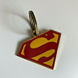 Vintage Superman 1978 Lowell Sigmund Brass Key Chain S Logo Enamel Red Gold