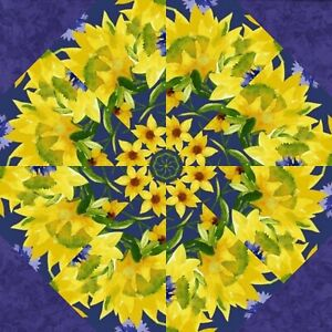 "SUNNY FIELDS 2 - 7"" Kaleidoscope Quilting Pre Cut Block Kit Stack n Whack"