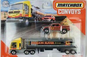 2020 Matchbox Convoys MBX Cab & Tanker Trailer Badlander Pickup Truck