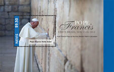 "POPE FRANCIS ""Visits Israel"" Collection, Nevis Stamps 1 sheet and S/S MNH"