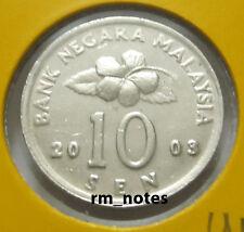 """MALAYSIA  10sen coin 2003 KEY DATE  Congkak """"UNC"""""""