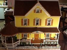 Beautiful WOODEN Doll House built (Stephanie's Estate )HANDMADE 1:12 scale wood