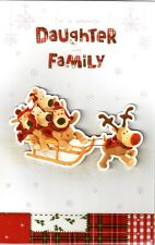 Boofle Daughter And Family Christmas Card Lovely Special Xmas Greeting Cards