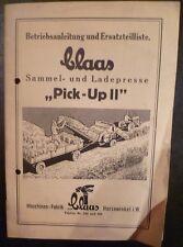 Claas Sammel- u. Ladepresse Pick Up II Anleitung ET-L.