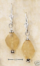 STERLING SILVER WITH CITRINE STONES ON LEVER BACK