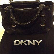 DKNY Authentic Donna Karan Signature Logo Handbag Purse Canvas & Leather Trim