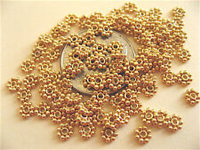 25 Bali Sterling Silver Vermeil Daisy Spacers 3.5mm