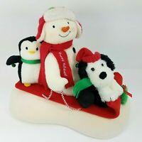 2007 Hallmark Jingle Pals Snow What Fun Sledders Animated Snowman Sleigh Ride