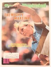 Vintage 1983 SPORTS ILLUSTRATED MAGAZINE MARTINA NAVRATILOVA Issue!!