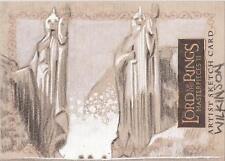 "Lord of the Rings Masterpieces II - Sarah Wilkinson ""Argonath"" Sketch Card"