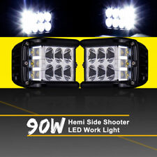 Work Cube Side Shooter LED Light Bar Spot Flood Driving Fog Pod 90W CREE 1PCS Y