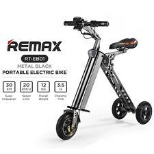 "REMAX RT-EB01 Black 8"" Mini Travel Smart Portable Bicycle Folding Electric Bike"