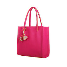 Candy Color Women Fashion Leather Handbag Shoulder Bag Ladies Flowers Purse Tote
