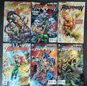 AQUAMAN LOT OF 16 ISSUES (2012) DC 52 COMICS 1ST FULL DR STEPHEN SHIN! DEAD KING