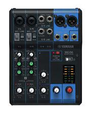 Yamaha mg06 mg 06 mesa de mezclas analógica mezclador 6-canal atril Live nuevo/en el embalaje original