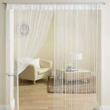 Classic String Fringe Panel Divider Window Door Curtain 90x200cm White New