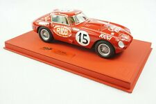 1/18 BBR FERRARI 375MM CAR #15 PANAMARICANA DELUXE RED LEATHER BASE LE 3 PC MR