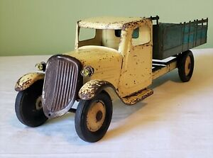 Steelcraft Toys Chevrolet Cab FARM STAKE TRUCK w/SHIELD GRILL 30's SUPER RARE