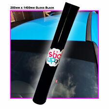 200mm x 1400mm, 8 Inch GLOSS BLACK CAR VINYL SUN STRIP, FITS ALL CARS