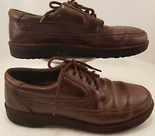 MEN'S CASUAL OXFORDS BY HUSH PUPPIES US SIZE 8.5W;EUR42W BROWN LEATHER
