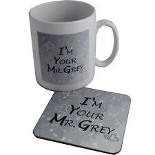 I'm your Mr Gris Céramique tasse et sous verre Set St. valentin et Amour Cadeau