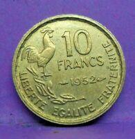 10 francs guiraud 1952 - TTB+ - pièce de monnaie française - N15648