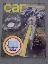 Car (July 1970) Aston DBS V8, Saab Sonett, 99, Volvo 164, Escort, Viva, Avenger