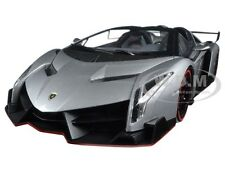 LAMBORGHINI VENENO ROADSTER GREY WITH RED LINE 1/18 DIECAST BY KYOSHO C09502 GR