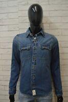 Camicia in Jeans Uomo ABERCROMBIE & FITCH Taglia S Maglia Manica Lunga Shirt Man