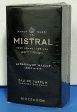 MISTRAL for Men Cedarwood Marine Parfun Spray Net Wt. 3.33 fl oz. 100ml NEW Box