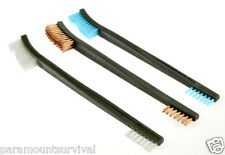 3 Pc Double Ended Cleaning brush Copper Nylon Plastic Gun Rifle Pistol Cleaning