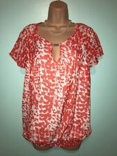 Savoir Gorgeous Floral Trimmed Ladies Summer Top Blouse 10 uk