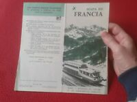 MAPA DE FRANCIA 1961 PLEGADO FRANCE LA SOCIEDAD NACIONAL FERROCARRILES FRANCESES