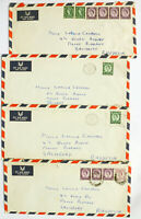 GB Great Britain QEII Wilding Machin Cover to South Africa & Rhodesia 17 Lot