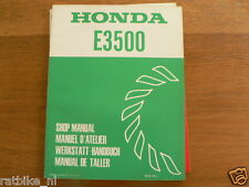 HONDA E3500 SHOP MANUAL FACTORY BOOK GENERATOR POWER WERKSTATT KO - K1