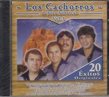 Los Cachorros de Juan Villareal Vol 3 20 Exitos CD New Nuevo sealed