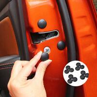 12 x Car Interior Door Lock Screw Protector Cover Caps Trim ABS Black Universal