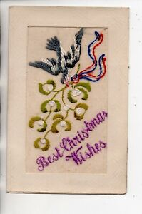 Embroidered Silk - Best Christmas Wishes