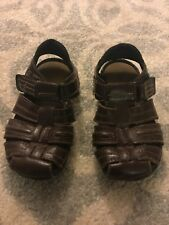 28de1fb39e7b Smart Fit Boys Size 9.5 Brown Fisherman Sandals