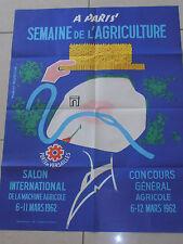 affiche agriculture - agricole - Paris - R . Rodrigue année 1962 ( ref 6 )
