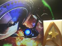 Star Trek Light Switch Cover for Toggle switch Star Fleet Logo Faceplate Gold